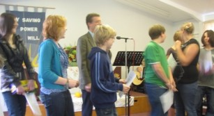 Young people contribute to worship